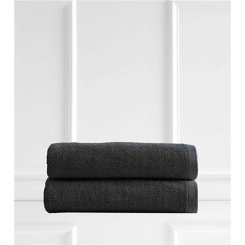 Style & Co Resort Egyptian Cotton 600 GSM 2 Pack Bath Sheets Charcoal Coconut