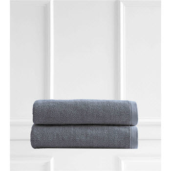 Style & Co Resort Egyptian Cotton 600 GSM 2 Pack Bath Sheets Blueberry