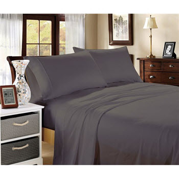 Hotel Collection 1000TC Cotton Blend Queen Sheet Sets Charcoal
