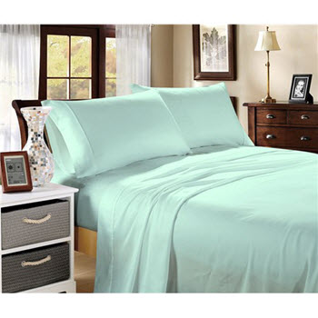 Hotel Collection 1000TC Cotton Blend Queen Sheet Sets Mist