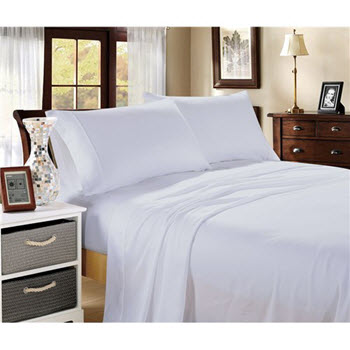 Hotel Collection 1000TC Cotton Blend King Sheet Sets White