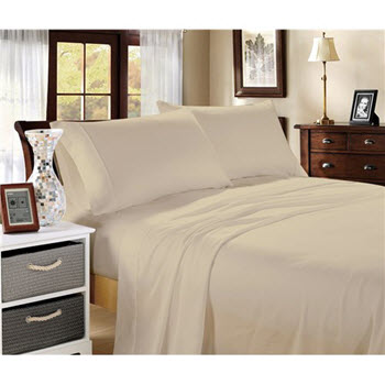Hotel Collection 1000TC Cotton Blend King Sheet Sets Sand