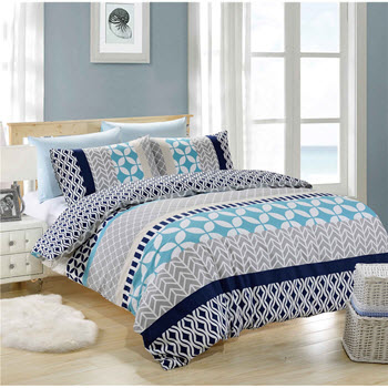 Park Avenue Bailey Cotton Reversible Queen Quilt Cover Set