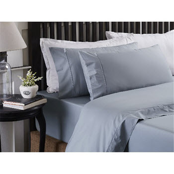 Style & Co 250 TC Printed Sheet Set Double Bed Graphite
