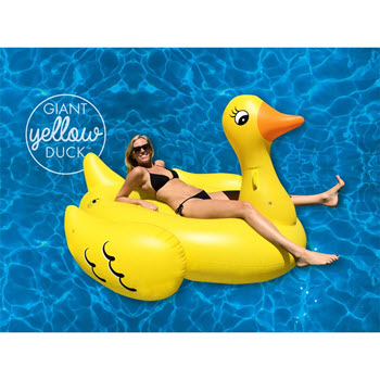 Giant Yellow Duck Inflatable Pool Float