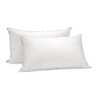 Royal Comfort Goose Feather & Down Pillow Twin Pack 1000GSM 50 x 75cm