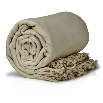 Royal Comfort 420GSM Egyptian Cotton Throw Blanket 180 x 200cm Truffle