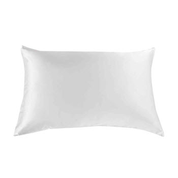 Royal Comfort Mulberry Silk Pillow Case White Pack of 2