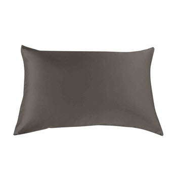 Royal Comfort Mulberry Silk Pillow Case Charcoal Pack of 2