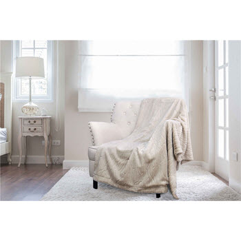 Royal Comfort Faux Mink Blanket 127cm x 152cm Stripe