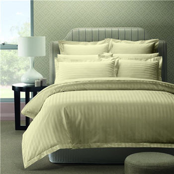 Style & Co 1000TC Egyptian Cotton Stripes Quilt Cover Queen Set Linen