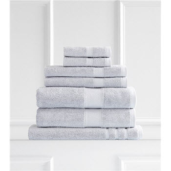 Renee Taylor Clarrisa Egyptian Cotton 600GSM 7 Piece Towel Set White