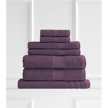 Renee Taylor Clarrisa Egyptian Cotton 600GSM 7 Piece Towel Set Wine