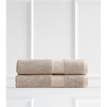 Renee Taylor Clarrisa Egyptian Cotton 600GSM 2 Pack Bath Sheets Birch