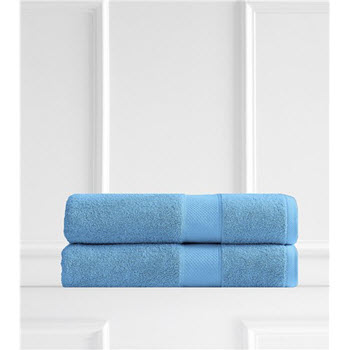 Renee Taylor Clarrisa Egyptian Cotton 600GSM 2 Pack Bath Sheets Teal