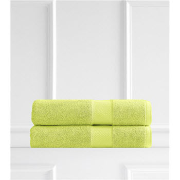 Renee Taylor Clarrisa Egyptian Cotton 600GSM2 Pack Bath Sheets Spearmint