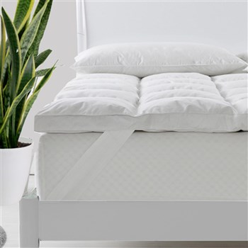 Royal Comfort 1000GSM Goose Feather & Down Mattress Topper Single Bed