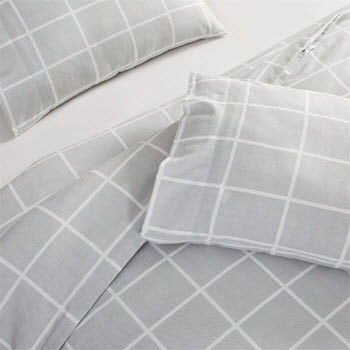 Park Avenue Flannelette Egyptian Cotton Quilt Cover Set 175 GSM King Sander