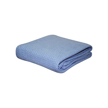 Kommotion Cotton Pebble Weave Denim Cot Blanket