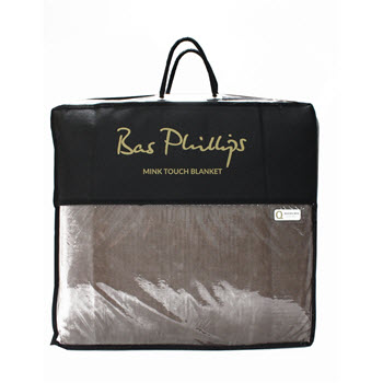 Bas Phillips Mink Blanket Queen Bed Stone