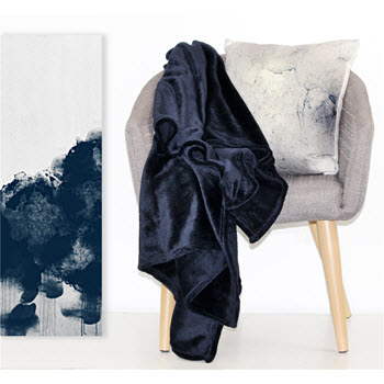 Odyssey Living Super Soft Throw Navy