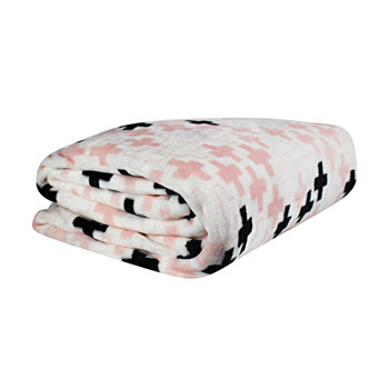 Odyssey Living Super Soft Queen/King Blanket Agatha Rose