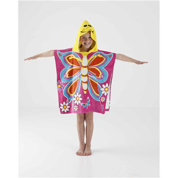 Kommotion Kids Butterfly Beach Poncho