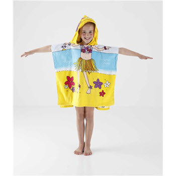 Kommotion Kids Hula Girl Beach Poncho