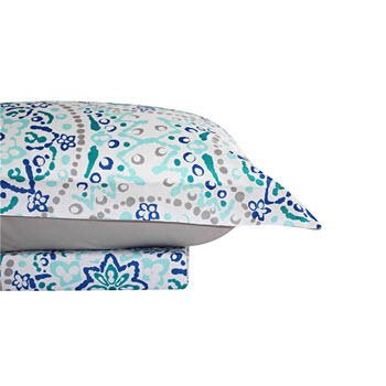 Odyssey Living Essentials Microfiber Printed Quilt Cover Set Zoe Queen