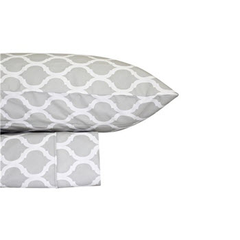 Odyssey Living Thermal Flannelette Printed Queen Sheet Set Morocco Glacier