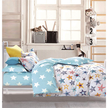 Odyssey Living California Dreaming Kids Star Bright Single Quilt Cover Set