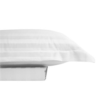 Odyssey Living 1000TC Cotton Rich Queen Quilt Cover Sateen Stripe White