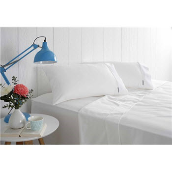 Odyssey Living White Sheet Set Queen 1000TC Cotton Rich