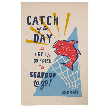 Ulster Weavers Catch of the Day Cotton Tea Towel