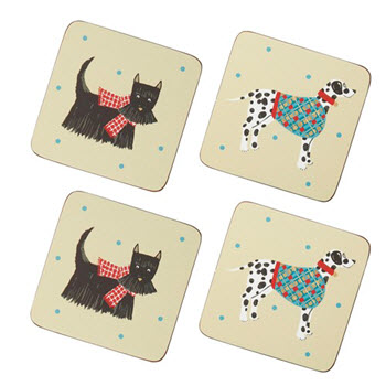 Ulster Weavers Hound Dog Pack of 4 Coaster