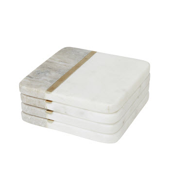 Amalfi Avery  Set of 4 Marble Coaster