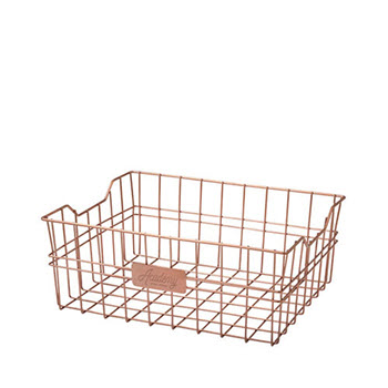 Academy Orwell Copper Rectangular Basket