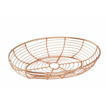 Academy Orwell Copper Oval Serving Basket