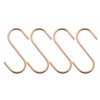 Academy Orwell Copper Set of 4 Large S Hooks