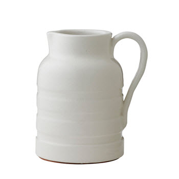 Academy Hawthorne White Pitcher