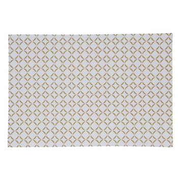 Davis & Waddell Aria Placemat White & Gold