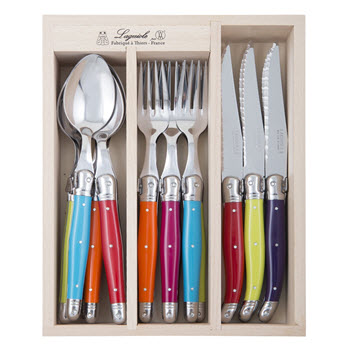 Laguiole by Andre Verdier Debutant Cutlery Set of 18 Multicolour