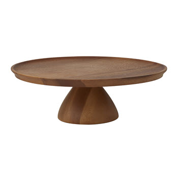 Davis & Waddell Acacia Wood Footed Cake Stand