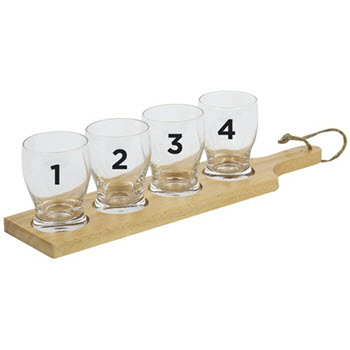 Davis & Waddell Maverick 5 Piece Beer Tasting Paddle Set