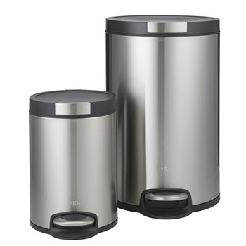 Eko Artistic Step Can Bin Set 20L+5L Stainless Steel