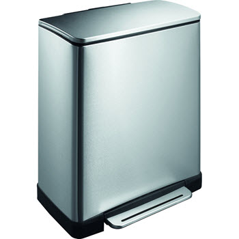 EKO E-Cube Step Can Stainless Steel 46L (28+18L)