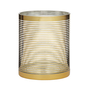Amalfi Blitz 10 x 12cm Candle Holder Gold