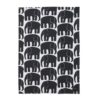 Finlayson Elefantti Tea Towel Black