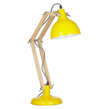 Amalfi Sleuth Table Lamp Wood & Yellow
