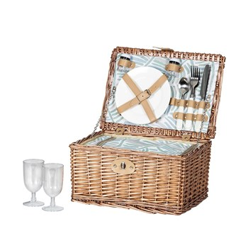 Amalfi Alari 2 Person Picnic Basket with Cooler